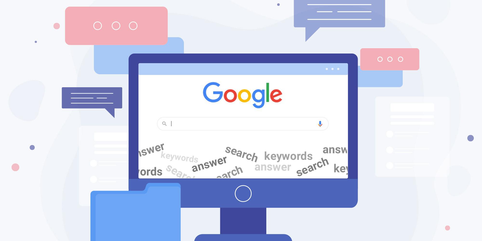 کلیدواژه های پیشنهادی گوگل