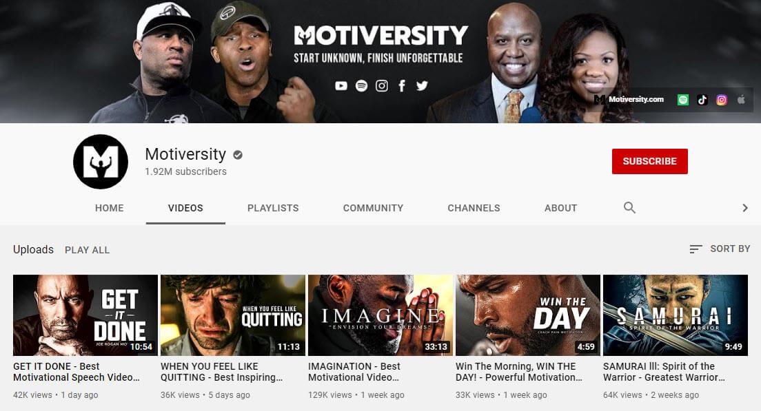 کانال یوتیوب motiversity